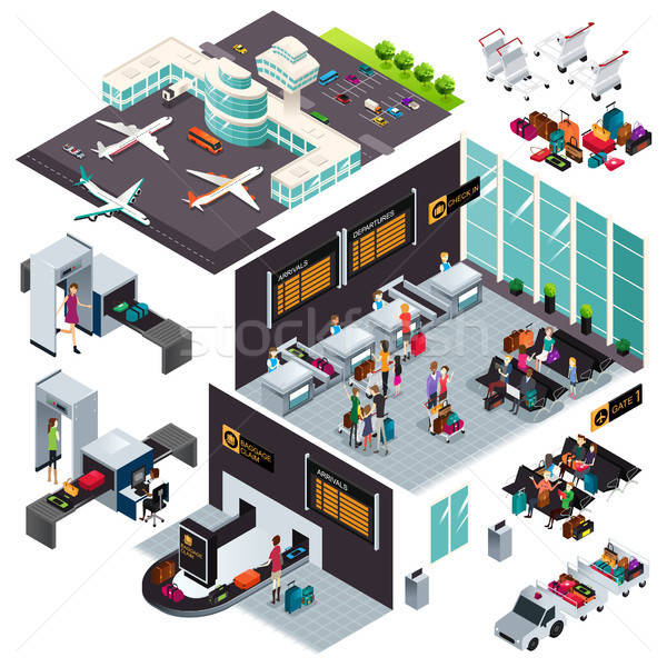 Isometric Design of an Airport Stock photo © artisticco