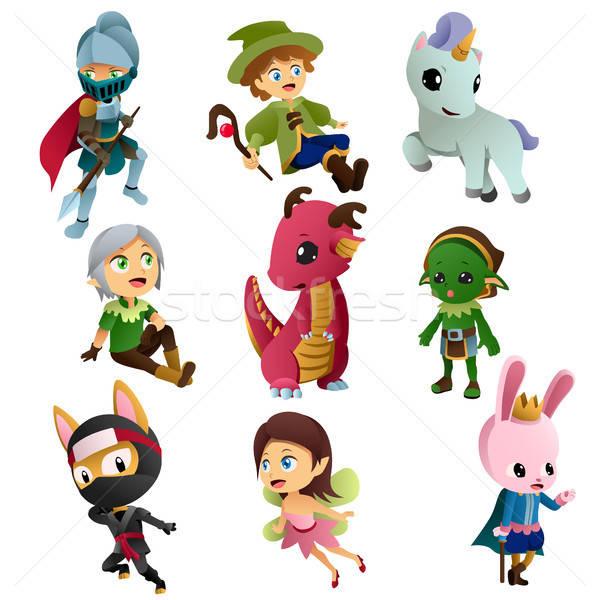 Fantasie iconen illustraties tekening cartoon Stockfoto © artisticco