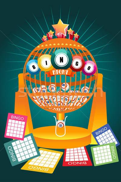 Bingo nacht spel poster Stockfoto © artisticco