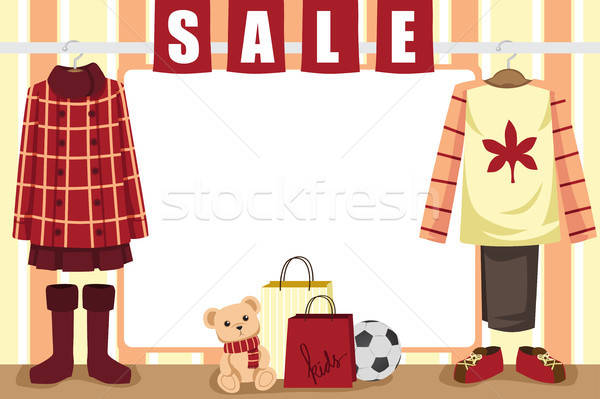 Autumn shopping background Stock photo © artisticco