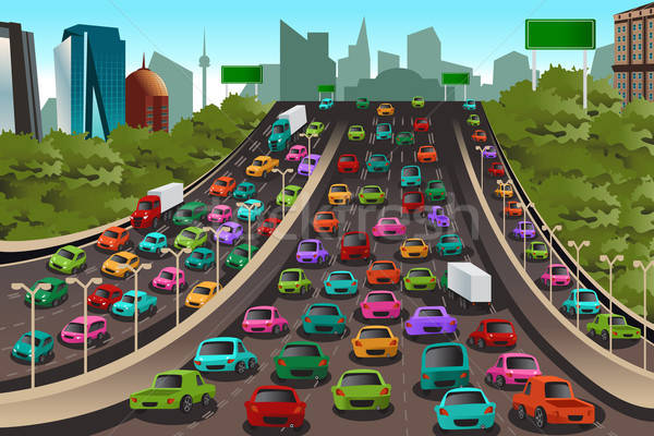 Traffic on a highway Stock photo © artisticco