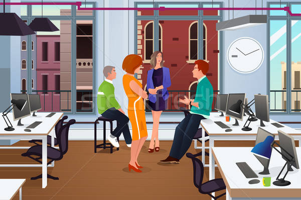 Informal Business Meeting in the Office Stock photo © artisticco