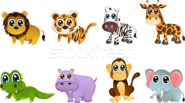 живая природа животного различный животные несут Сток-фото © artisticco