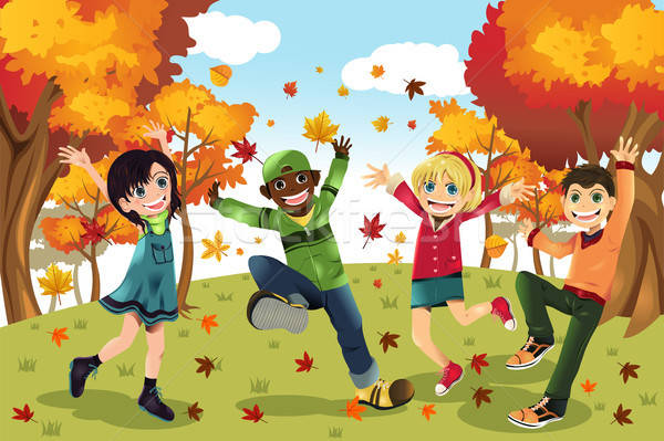 Autumn Fall season kids Stock photo © artisticco