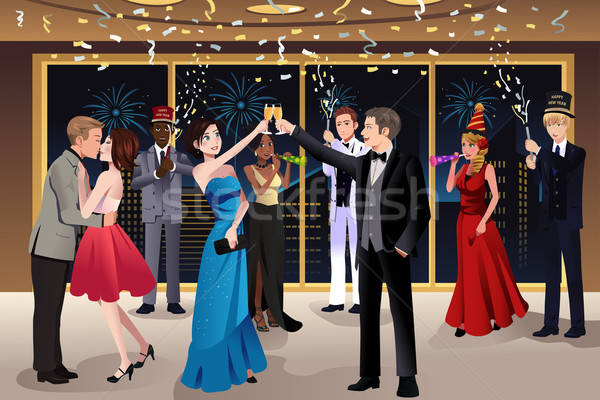 New Year Eve party indoor  Stock photo © artisticco