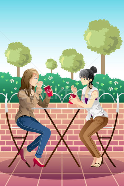Girls hanging out together Stock photo © artisticco