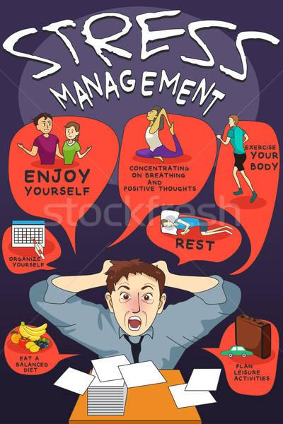 Stress Management Infographic Stock photo © artisticco