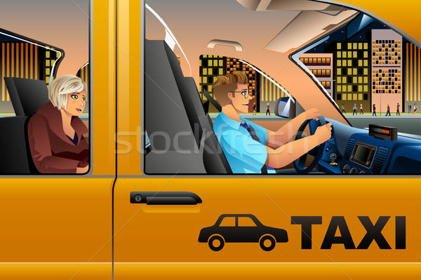 Taxi Driver Driving a Passenger Stock photo © artisticco