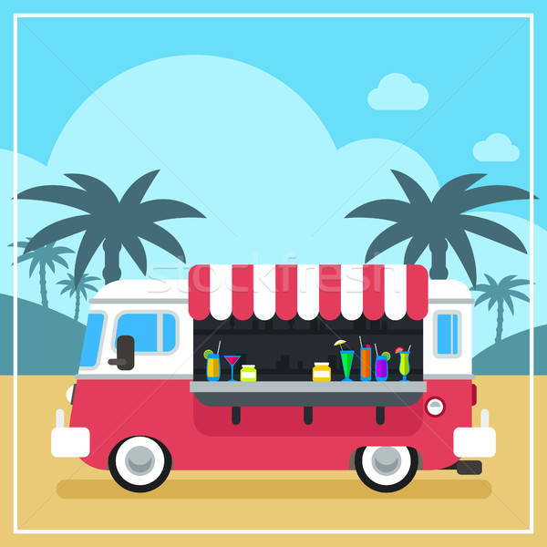 Summer Drinks and Smoothies Truck Stock photo © artisticco