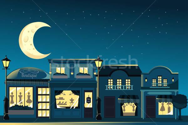 французский бутик ночь город звезды Сток-фото © artisticco
