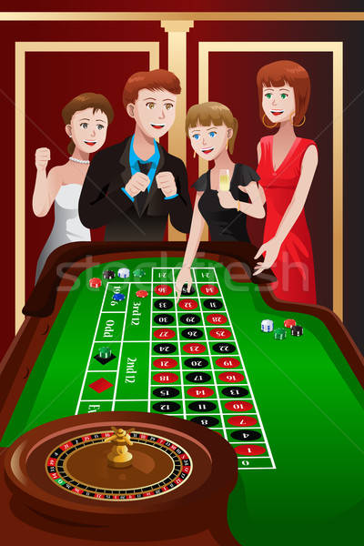 People playing roulette in a casino Stock photo © artisticco