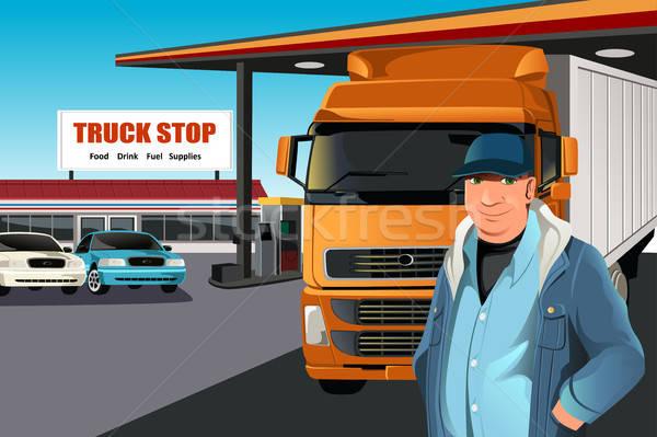 Truck driver Stock photo © artisticco