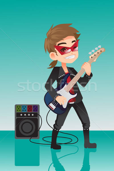 Kid rocker Stock photo © artisticco