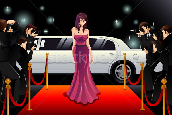 Stock photo: Woman Going to a Red Carpet Event