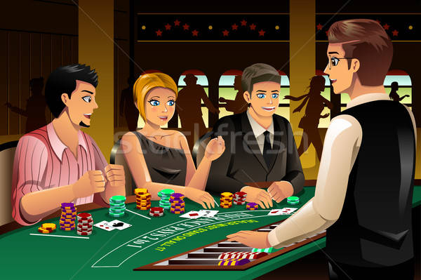 People Gambling in a Casino Stock photo © artisticco