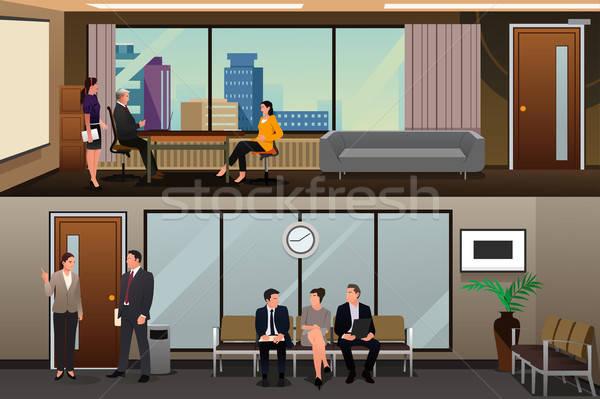 Pracy czeka wywiad biuro człowiek biznesmen Zdjęcia stock © artisticco