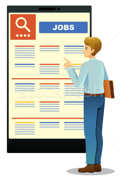 Woman Looking at Job Posting Stock photo © artisticco