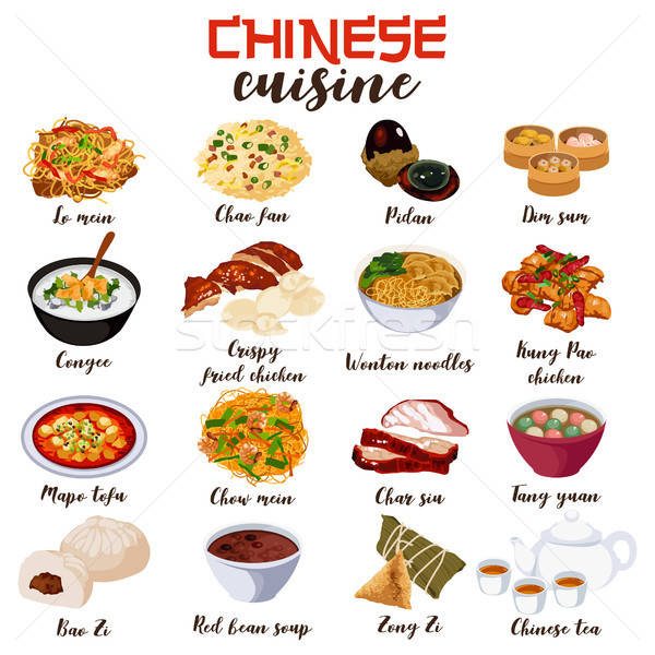 Chinese Food Cuisine Illustration Stock photo © artisticco