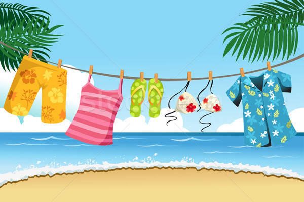 Drying summer clothes Stock photo © artisticco