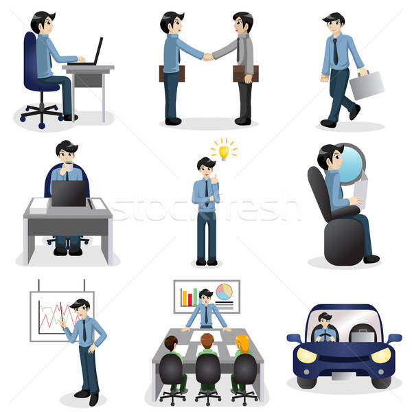 Small business people icons in different situation  Stock photo © artisticco
