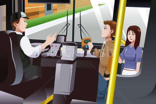 People paying for bus fare Stock photo © artisticco