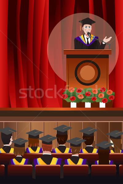 Graduating Man Giving a Speech Stock photo © artisticco