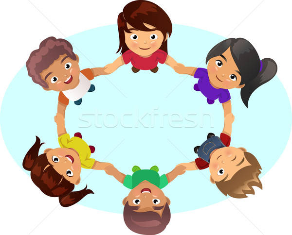 Multi-ethnic Kids Holding Hands Stock photo © artisticco