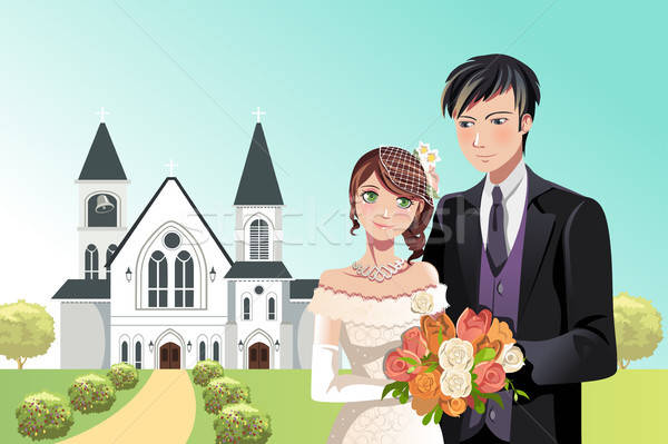 Couple getting married Stock photo © artisticco