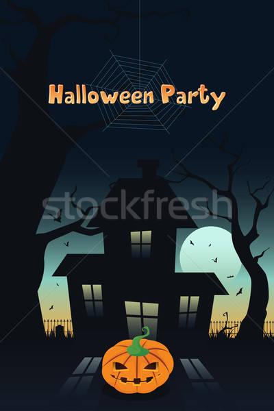 Halloween buli terv copy space háttér háló Stock fotó © artisticco
