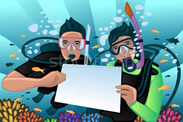 Snorkeling poster Stock photo © artisticco