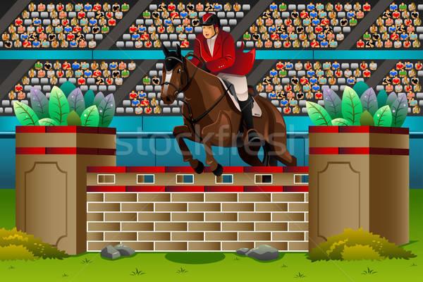 Equestrian in the competition Stock photo © artisticco