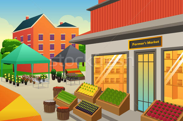 Farmers Market Background Illustration Stock photo © artisticco