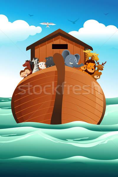 Stockfoto: Paard · venster · bijbel · schip · tijger · aap