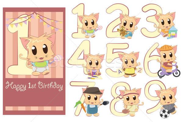 Kids birthday template  Stock photo © artisticco