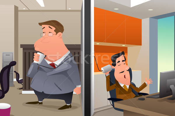 Businessmen Talking Using a String Can Phone Stock photo © artisticco