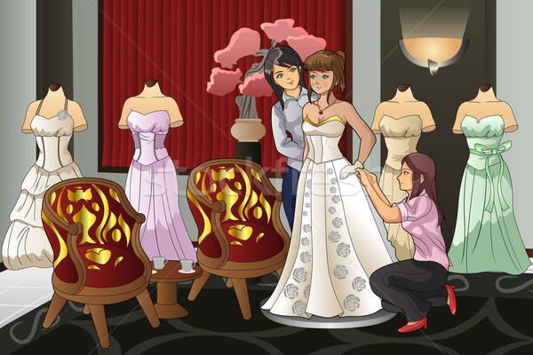 Noiva belo menina moda feminino Foto stock © artisticco