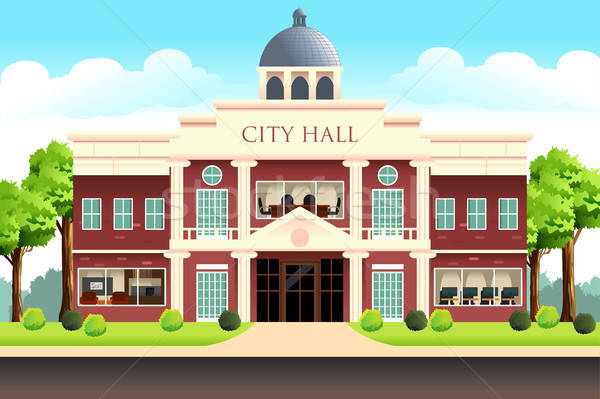 City Hall Building Illustration Stock photo © artisticco