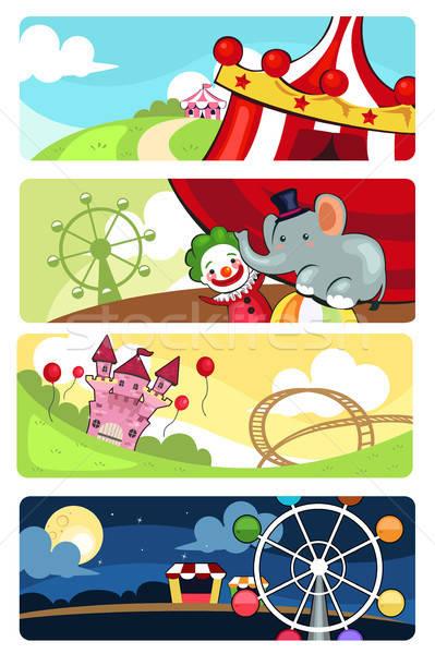 Amusement park banners Stock photo © artisticco