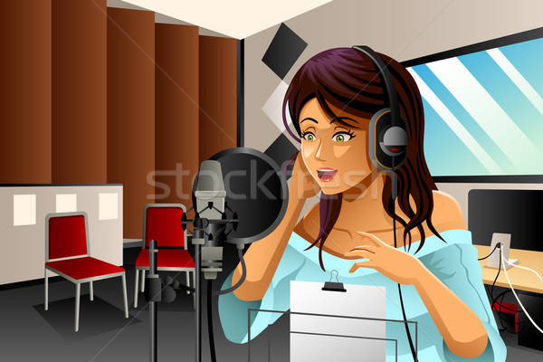 Female Singer Singing Stock photo © artisticco