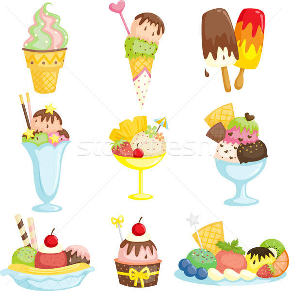 Crème glacée délicieux chocolat dessert dessin icecream Photo stock © artisticco