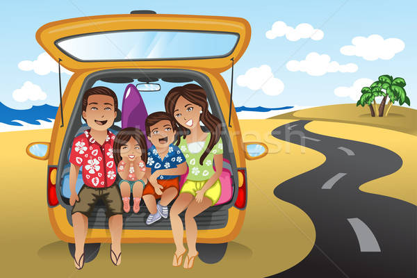 Family on a road trip Stock photo © artisticco