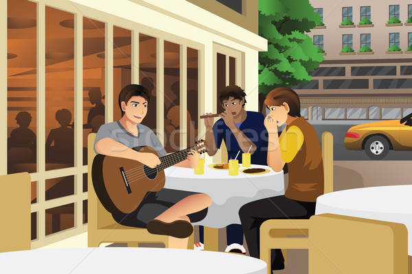 Men Playing Music Together Stock photo © artisticco