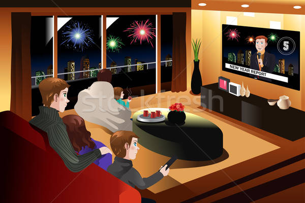 Family Spending Time Together on New Year Eve Stock photo © artisticco