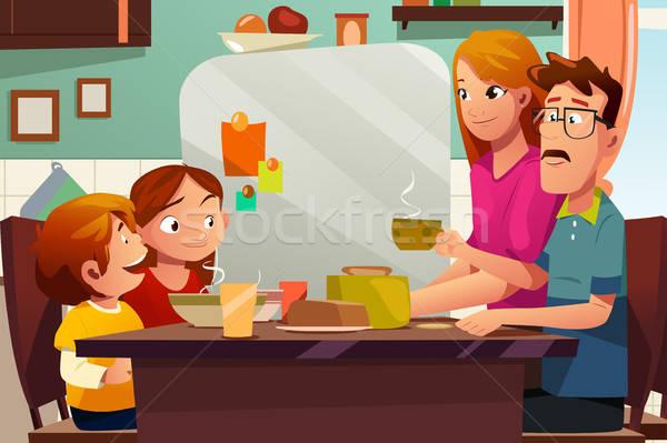 Family Having Dinner Together  Stock photo © artisticco