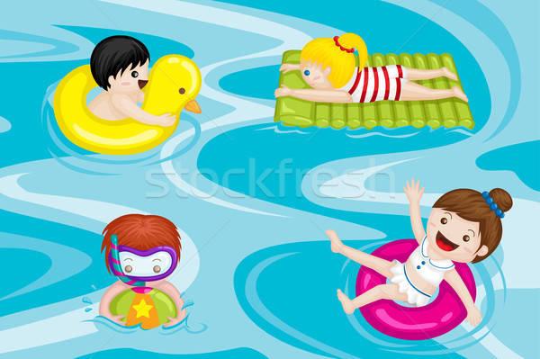 Kids in swimming pool Stock photo © artisticco