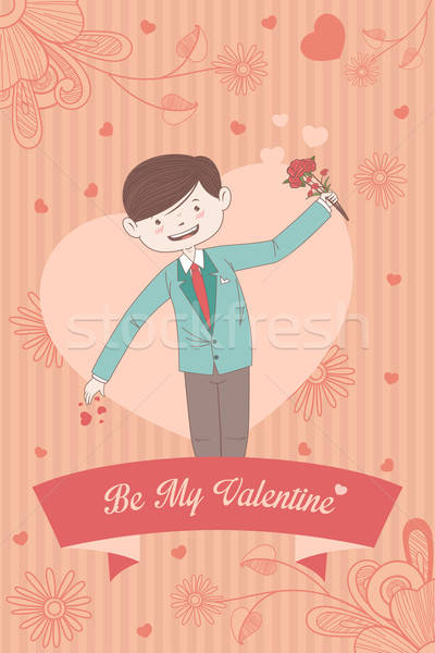 Valentine card with Be My Valentine words Stock photo © artisticco
