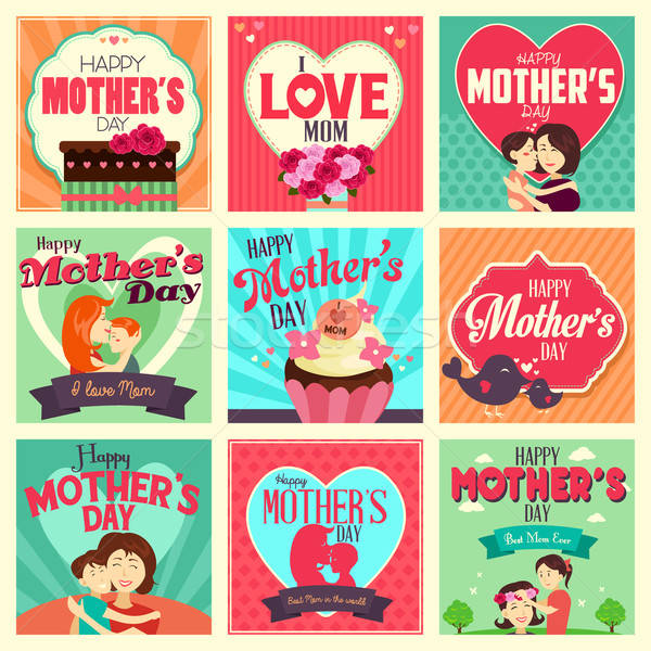 Mother's day cards Stock photo © artisticco