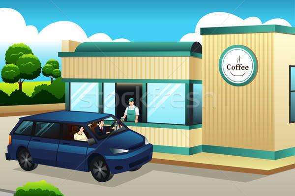 人 買い コーヒー コーヒーショップ レストラン カフェ ストックフォト © artisticco