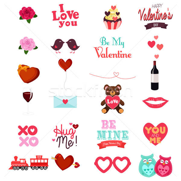 Valentines Day Clipart Icon Set Stock photo © artisticco
