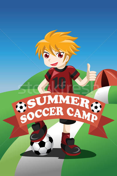 Soccer summer camp poster Stock photo © artisticco